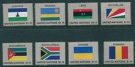UNNY 1179-86 $1.15 2018 Flags Set Of 8 Singles Mint ny1179sgl