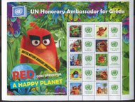 UNNY 1131 Angry Bird Personalized Sheet of 10 ny1131