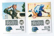 UNNY 1134-5 47c, $1.15 Int Peace Keepers Set of 2 Singles nh1134-5nh