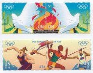 UNNY 1137-40 47c,$1.15 Sport For Peace Mint Pairs 1137-40nh