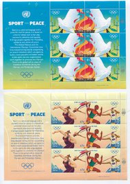 UNNY 1137-40 47c,$1.15 Sport For Peace 2 Sheets of 6 ny1137-40sh
