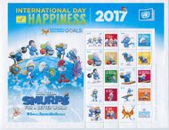 UNNY 1158 Smurfs Day of Happiness Personalized Sheet unny1158sh