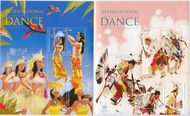 UNNY 1159-1160 49c, $1.15 Dance Miniature Sheets unny1159-60