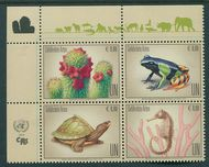 UNV 616-19 €80 Endangered Species Block of 4 Mint NH unv616-9blk