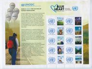 UNV 622a Human Trafficking Personalized Sheet Mint NH unv622a