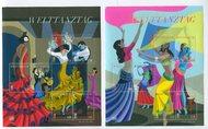 UNV 583-84 Internatioal Dance Day 2 Sheets of 6 unv583-4sh