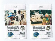 UNV 586-87 €68, .80 Int Peace Keepers Mint Singles unv586-7nh