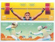 UNV 588-91 €68,1.70 Sport For Peace Mint Pairs unv588-91pr