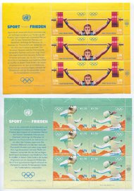UNV 588-91 €68,1.70 Sport For Peace Sheets of 6 unv688-91sh