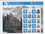 UNV 595 CTBTO 20th Ann. Personalized Sheet unv595bk