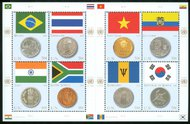 UNNY 930 39c Flags & Coins sheet of 8 ny930sh
