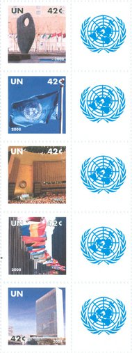 UNNY 954-58 42c Personalized stamps strip of 5 NY954NH