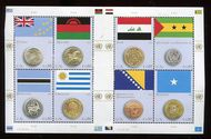 UNV 558 .80 Coin and Flag Sheet of 8 unv558
