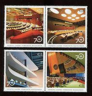 UNV 572-75 .80, Ç1.70 UN 70th Anniversary Mini Sheets of 6 unv572-5sh