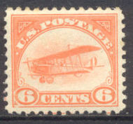 C  1 6c Biplane, Orange F-VF Mint NH c1nh