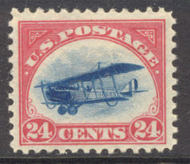 C  3 24c Biplane,Red/Blue F-VF Mint NH c3nh