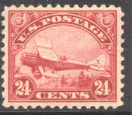 C  6 24c Biplane, Red AVG Unused OG c6ogavg