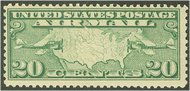 C  9 20c Map, Green F-VF Mint NH C9NH