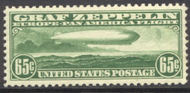 C 13 65c Green Graf Zeppelin F-VF Mint NH c13nh