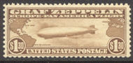 C  14 $1.30 Brown Graf Zeppelin F-VF Mint NH c14nh