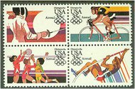 C109-12 35c Summer Olympics Attached Block of 4 F-VF Mint NH c109nh