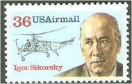 C119 36c Igor Sikorsky F-VF Mint NH c119nh