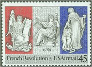 C120 45c French Revolution Bicentennial Used c120used