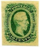 Confederate States of America #12c 10c greenish blue  F-VF Unused OG CSA0012c_OG
