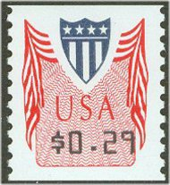 CVP32 29c Shield, vertical perforations (1994) F-VF Mint NH cvp32nh
