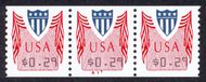 CVP32 29c Shield, vertical perfs (1994) F-VF Mint NH PNC of 3 cvp32pnc3