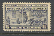 E12 10c Special Delivery New Design, Flat Plate F-VF Mint NH e12nh