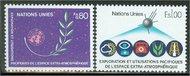 UNG 109-10 80c-1 fr. Peace in Space UN Geneva Mint NH 12456