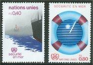 UNG 114-15 40c-80c Safety at Sea UN Geneva Mint NH ung114nh