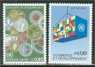 UNG 117-18 80c-110 fr.Trade & Devel. UN Geneva Mint NH 12462