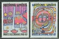 UNG 119-20 40c-1.20 fr Human Rights UN Geneva Mint NH 12463