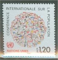 UNG 121    1.20 fr.Population Conf. UN Geneva Mint NH 12466