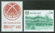 UNG 129-30  80c-1.20 fr.ILO-Turin UN Geneva Mint NH 12472