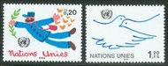 UNG 133-34  20c-1.20 fr. Definitives . UN Geneva Mint NH ung133