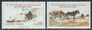 UNG 135-36  50c-70c 40th Anniversary UN Geneva Mint NH ung135