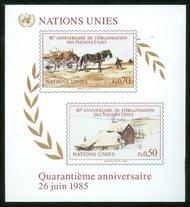 UNG 137    50c-70c 40thAnniv.S/S UN Geneva Mint NH ung137