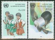 UNG 138-39  50c-1.20 fr. UNICEF UN Geneva Mint NH ung138