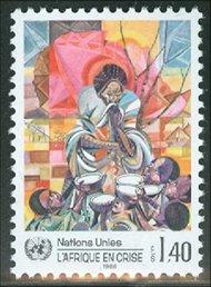 UNG 140    1.40 fr.Africa in Crisis UN Geneva Mint NH ung140