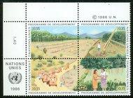UNG 141-44  35c UN Development,Attd UN Geneva Mint NH ung141