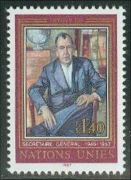 UNG 151    1.40 fr. Trygve Lie UN Geneva Mint NH ung151