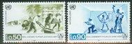 UNG 154-55  50c-90c Homeless UN Geneva Mint NH ung154