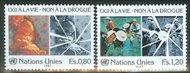 UNG 156-57  80c-1.20 fr. Anti-Drugs UN Geneva Mint NH ung156