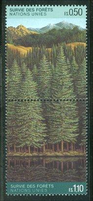UNG 165-66  50c 1.10 fr Forestry UN Geneva Mint NH ung165
