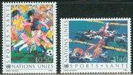 UNG 169-70 50c-1.40fr Health / Sports UN Geneva Mint NH ung169