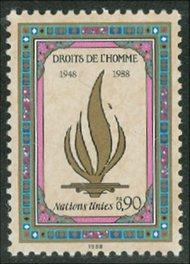 UNG 171  90c Human Rights UN Geneva Mint NH ung171