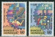 UNG 173-74  80c-1.40 fr.World Bank UN Geneva Mint NH ung173